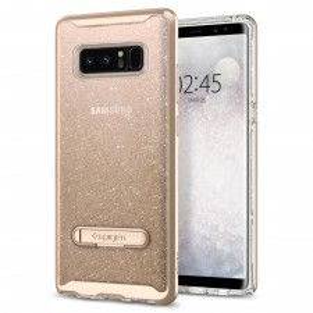 Чехол SPIGEN для Galaxy Note 8 - Crystal Hybrid Glitter - Золотой кварц - SGP-587CS21844
