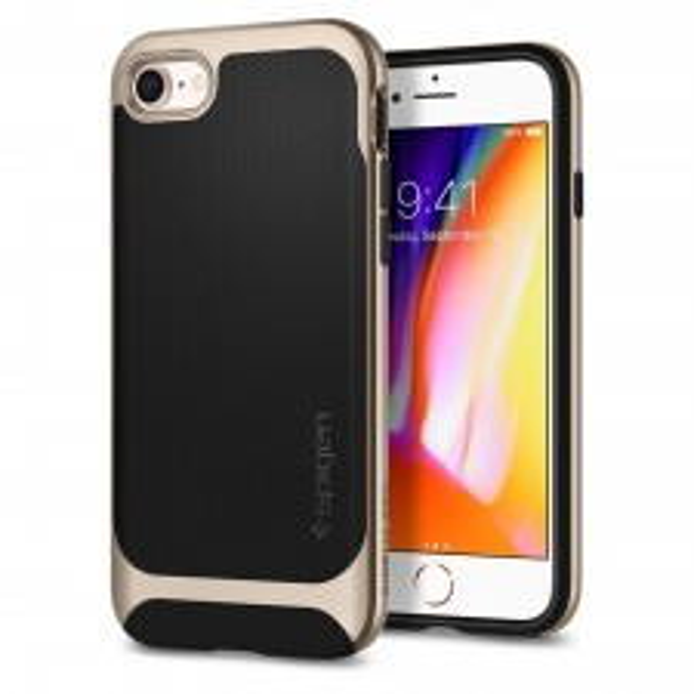 Чехол SPIGEN для iPhone SE (2020) / 7 / 8 - Neo Hybrid Herringbone - Золотой - SGP-054CS22201