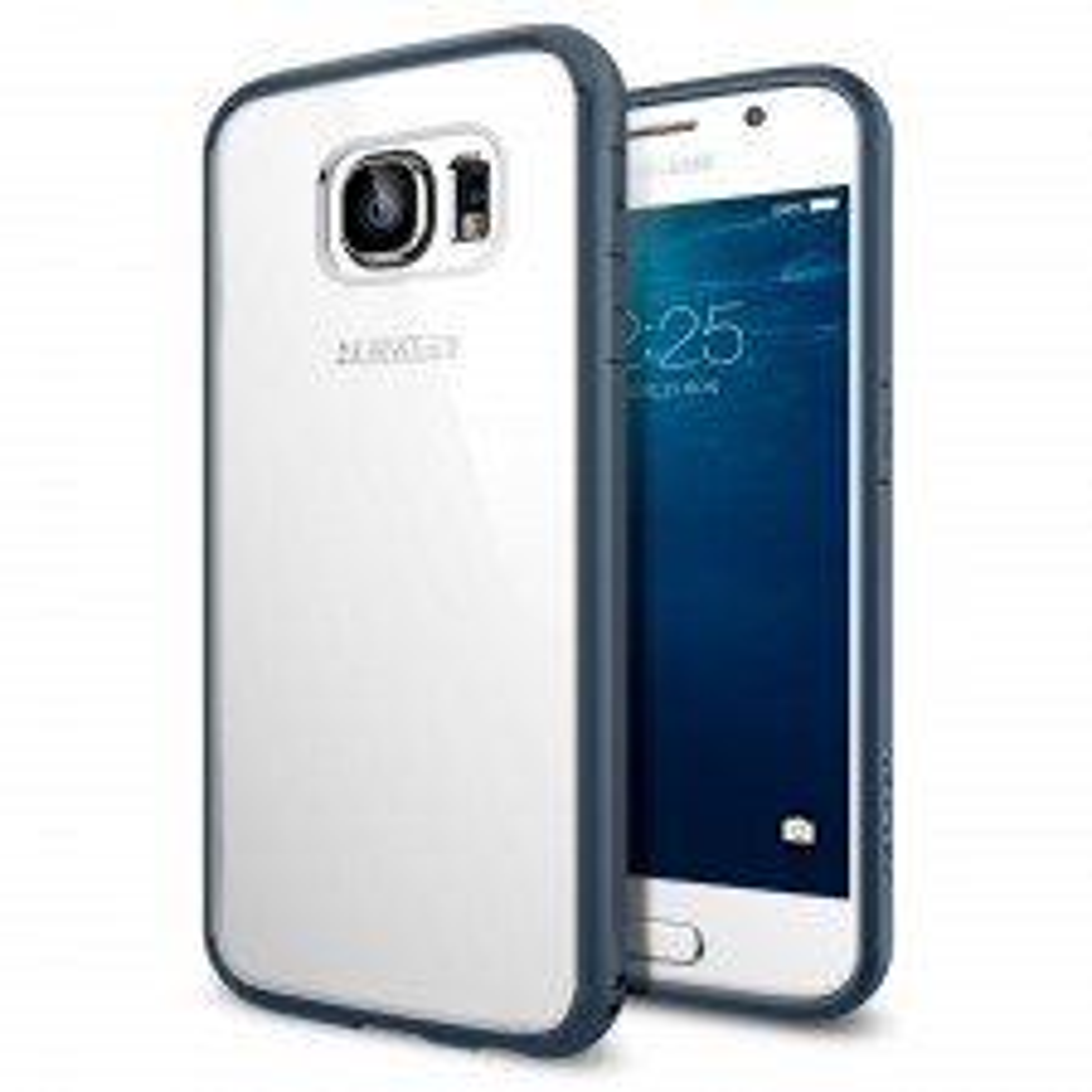Чехол-гибрид SPIGEN для Galaxy S6 - Ultra Hybrid - Синевато-серый - SGP11313