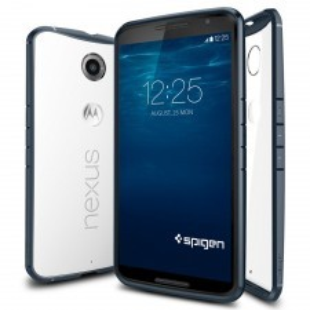 Чехол-гибрид SPIGEN для Nexus 6 - Ultra Hybrid - Синевато-серый - SGP11243