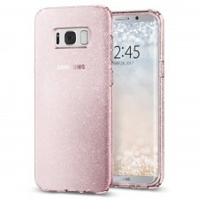 Чехол-капсула чехол SPIGEN для Galaxy S8 Plus - Liquid Crystal Glitter - Розовый кварц - SGP-571CS21667