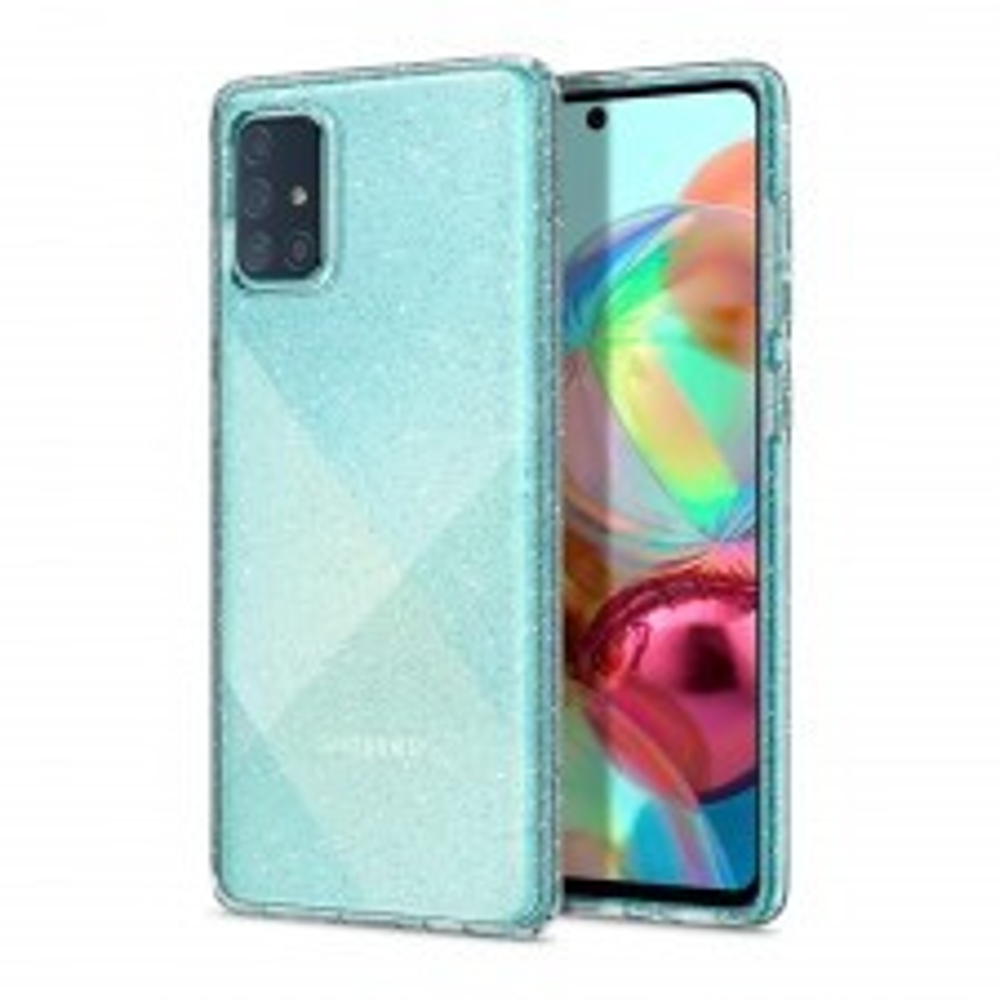 Чехол-капсула SPIGEN для Galaxy A71 - Liquid Crystal Glitter - Кристально-прозрачный - ACS00935