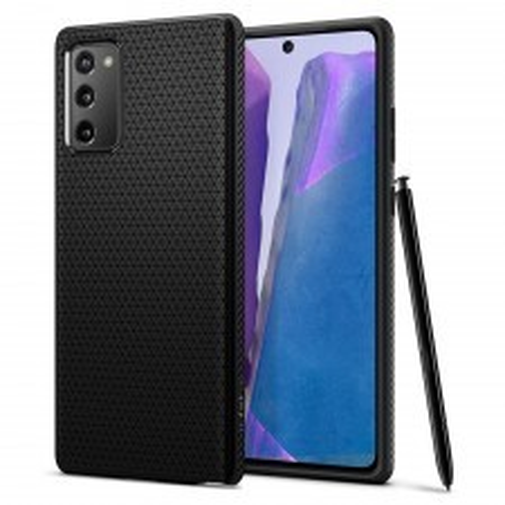 Чехол-капсула SPIGEN для Galaxy Note 20 - Liquid Air - Черный - ACS01418