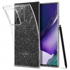 Чехол-капсула SPIGEN для Galaxy Note 20 Ultra - Liquid Crystal Glitter - Прозрачный кварц - ACS01390