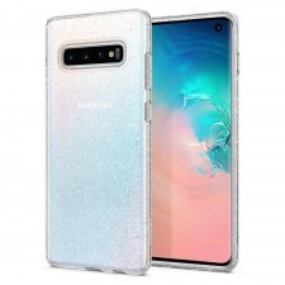 Чехол-капсула SPIGEN для Galaxy S10 - Liquid Crystal Glitter - Прозрачный кварц - SGP-605CS25797