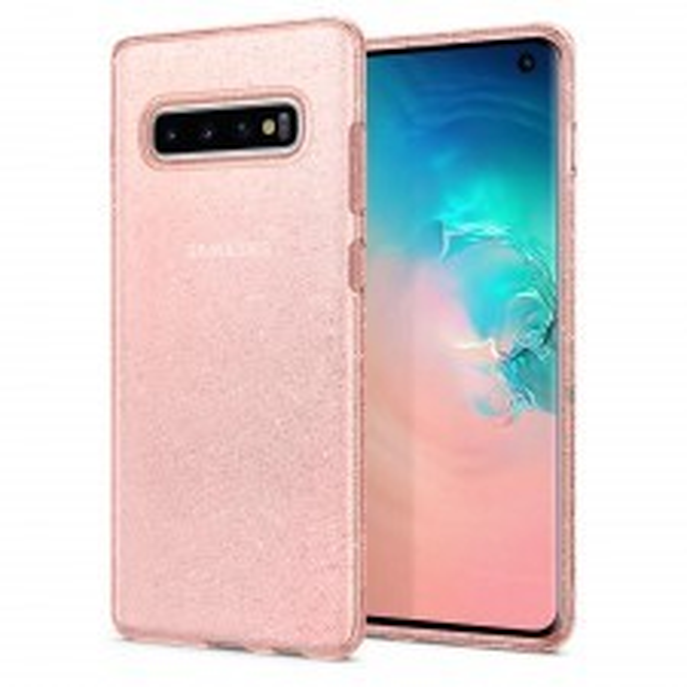 Чехол-капсула SPIGEN для Galaxy S10 - Liquid Crystal Glitter - Розовый кварц - SGP-605CS25798