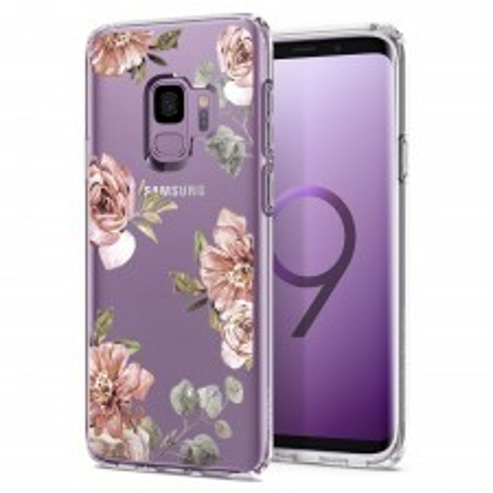 Чехол-капсула SPIGEN для Galaxy S9 - Liquid Crystal Blossom - Цветы - SGP-592CS22829