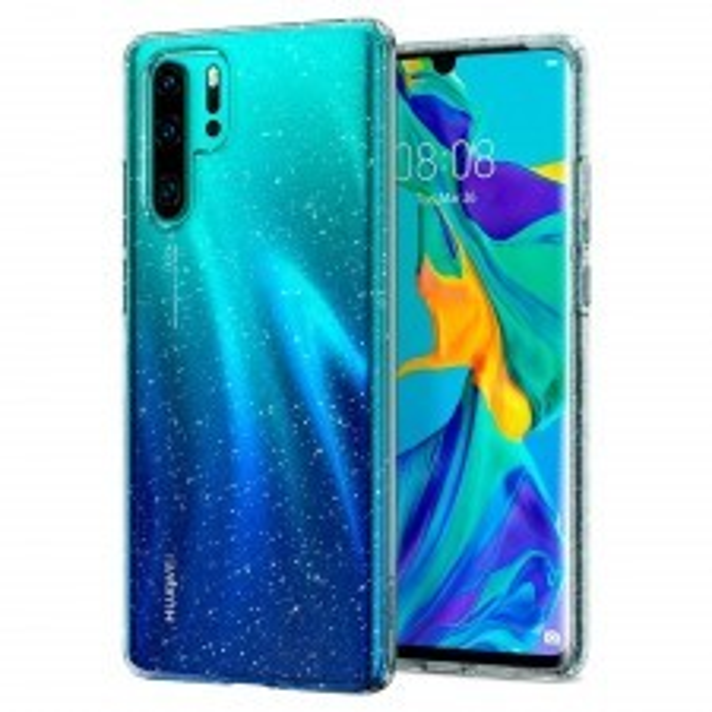 Чехол-капсула SPIGEN для Huawei P30 Pro - Liquid Crystal Glitter - Прозрачный - L37CS25727