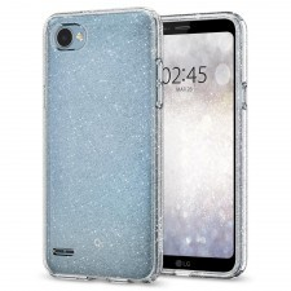 Чехол-капсула SPIGEN для LG Q6 - Liquid Crystal Glitter - Прозрачный кварц - SGP-A26CS22341