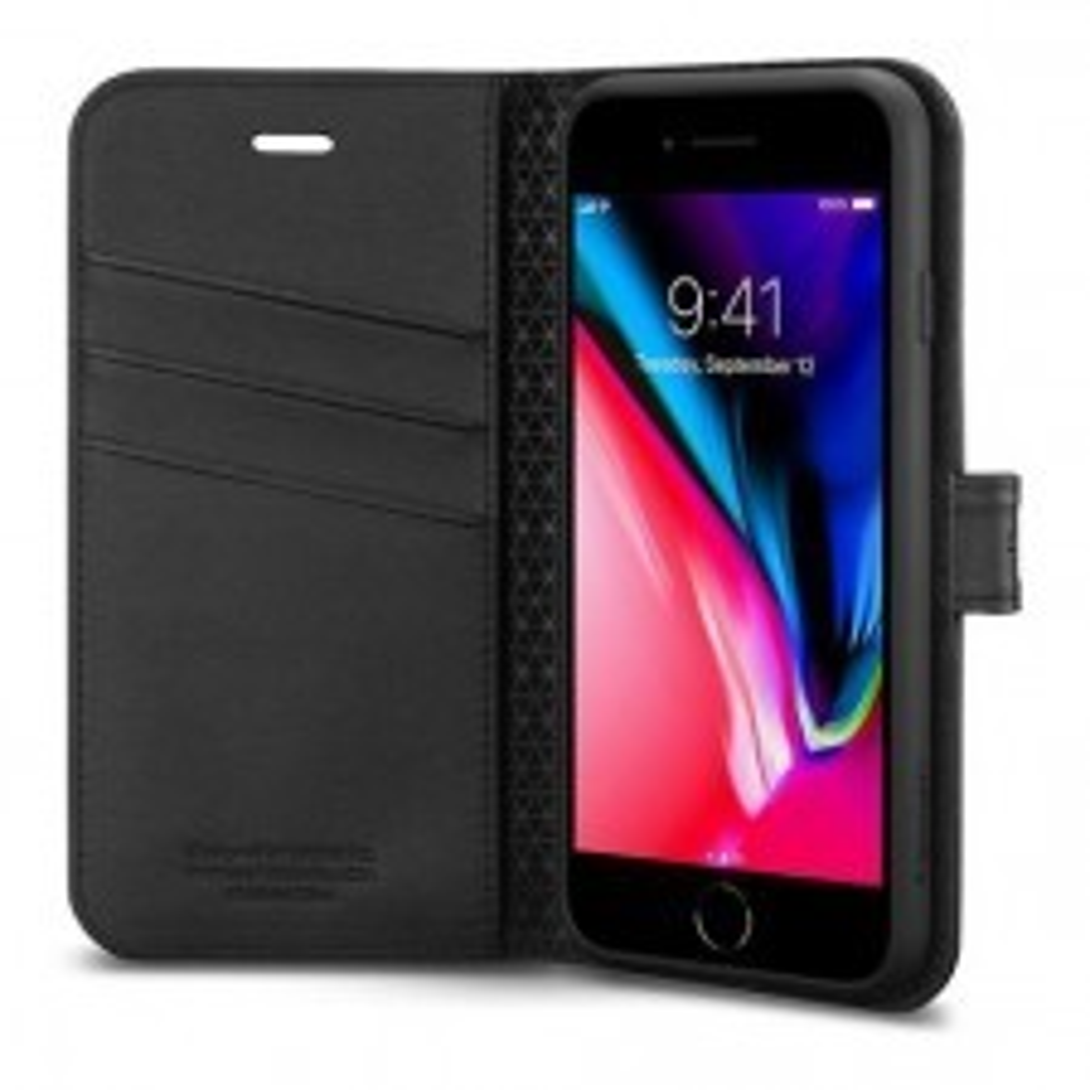 Чехол-книжка SPIGEN для iPhone SE (2020) / 7 / 8 - Wallet S - Черный - SGP-054CS22635