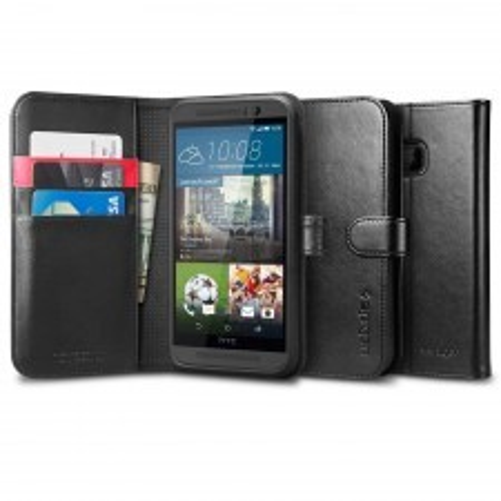 Чехол-книжка SPIGEN для HTC One M9 - Wallet S - Черный - SGP11392