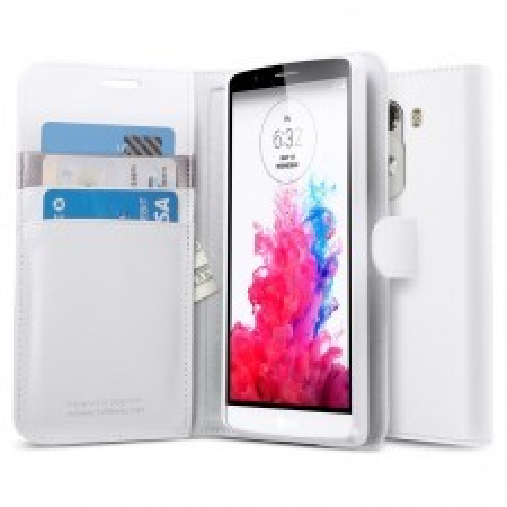Чехол книжка SPIGEN для LG G3 - Wallet S - Белый - SGP10872