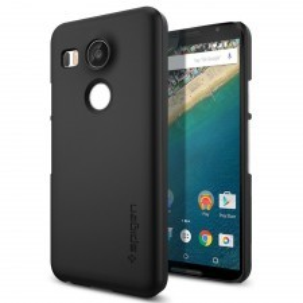 Чехол-накладка SPIGEN для Nexus 5X - Thin Fit - Черный - SGP11756