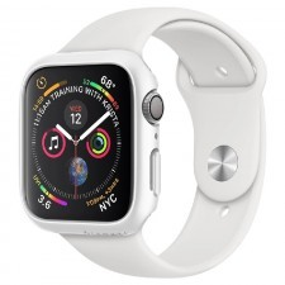 Чехол-накладка SPIGEN для Apple Watch 5 / 4 (40мм) - Thin Fit - Белый - 061CS24485