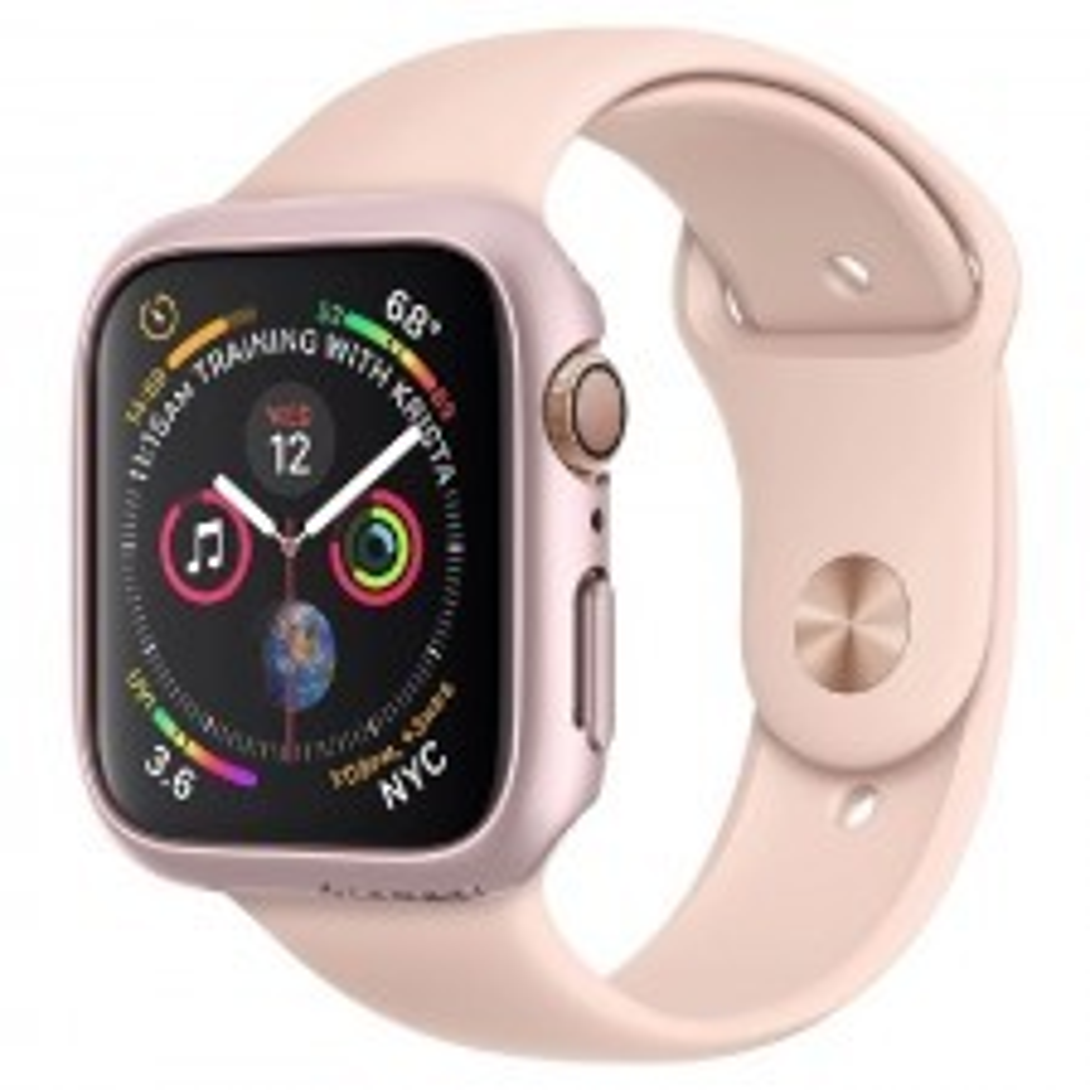 Чехол-накладка SPIGEN для Apple Watch 5 / 4 (40мм) - Thin Fit - Розовое золото - 061CS24485