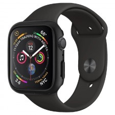 Чехол-накладка SPIGEN для Apple Watch 5 / 4 (44мм) - Thin Fit - Черный - 062CS24474