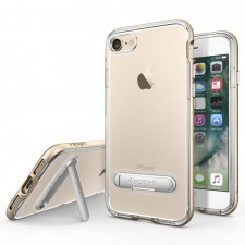 Чехол с подставкой SPIGEN для iPhone SE (2020) / 7 / 8 - Crystal Hybrid - Золотой - SGP-042CS20460