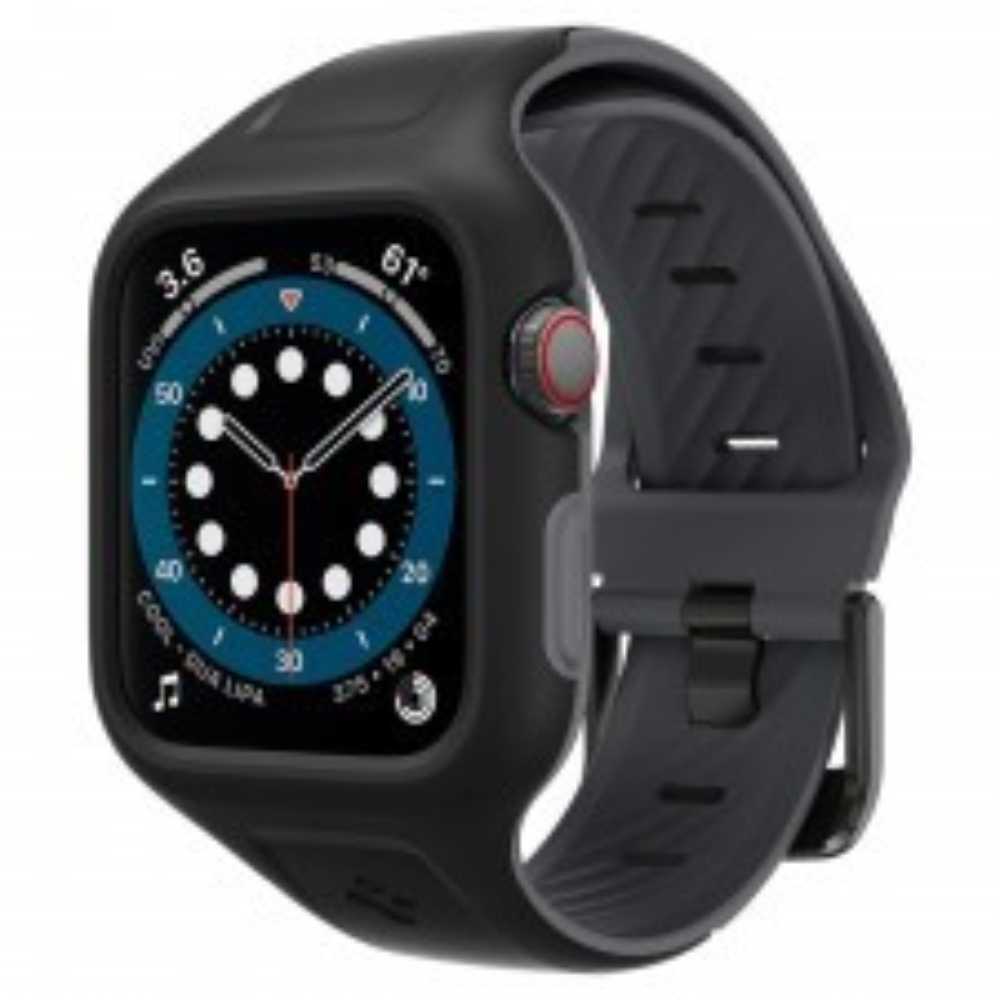 Чехол SPIGEN для Apple Watch SE / 6 / 5 / 4 (40mm) - Liquid Air Pro - Черный - AMP02020
