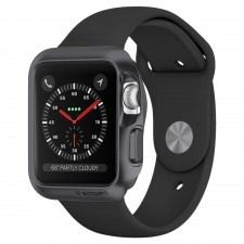Чехол SPIGEN для Apple Watch 3 / 2 / 1 (38мм) - Slim Armor - Серый - SGP-058CS22562