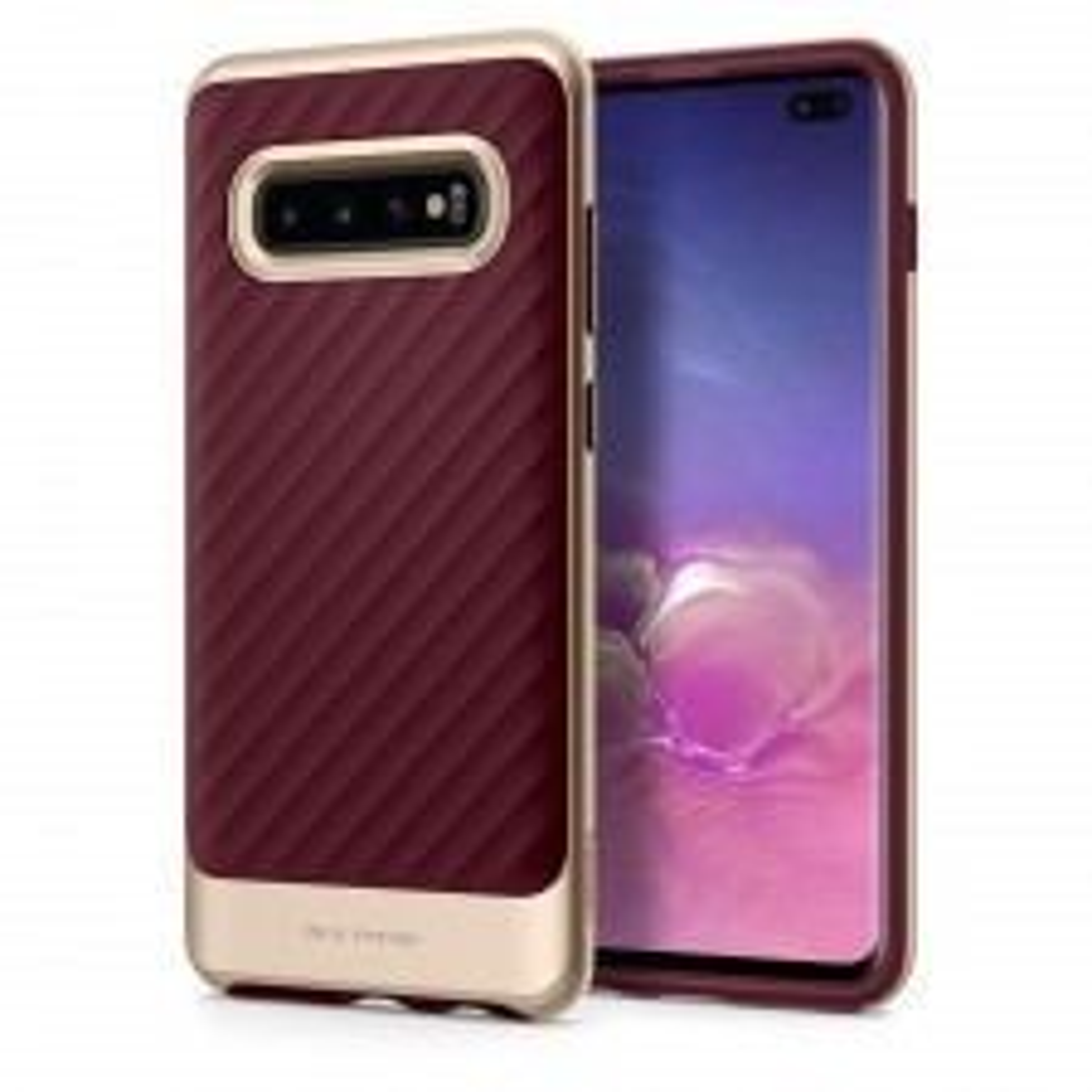 Чехол SPIGEN для Galaxy S10 Plus - Neo Hybrid - Бордовый - SGP-606CS25775
