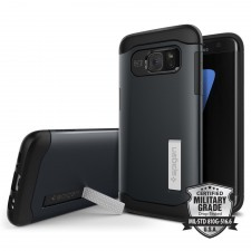 Защитный чехол SPIGEN для Galaxy S7 Edge - Slim Armor - Синевато-серый - SGP-556CS20025