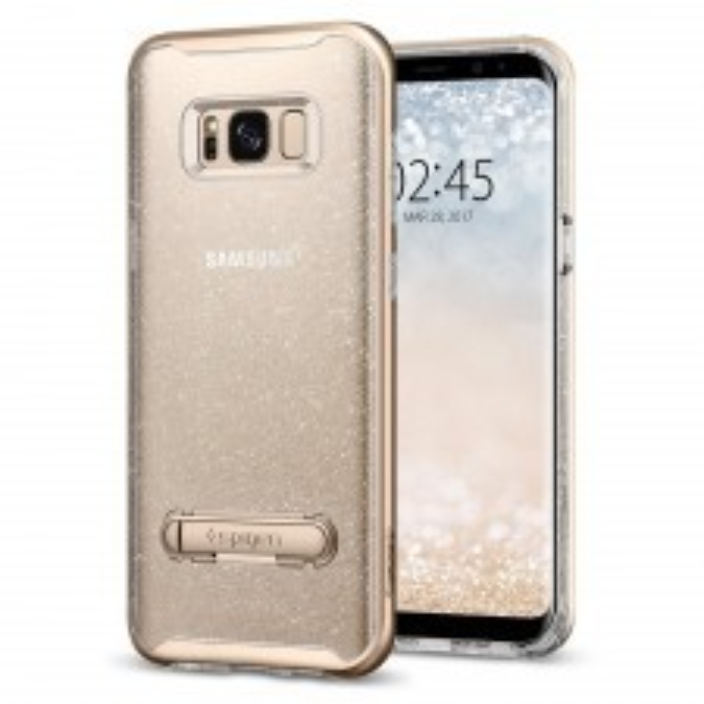 Чехол SPIGEN для Galaxy S8 - Crystal Hybrid Glitter - Золотой кварц - SGP-565CS21327