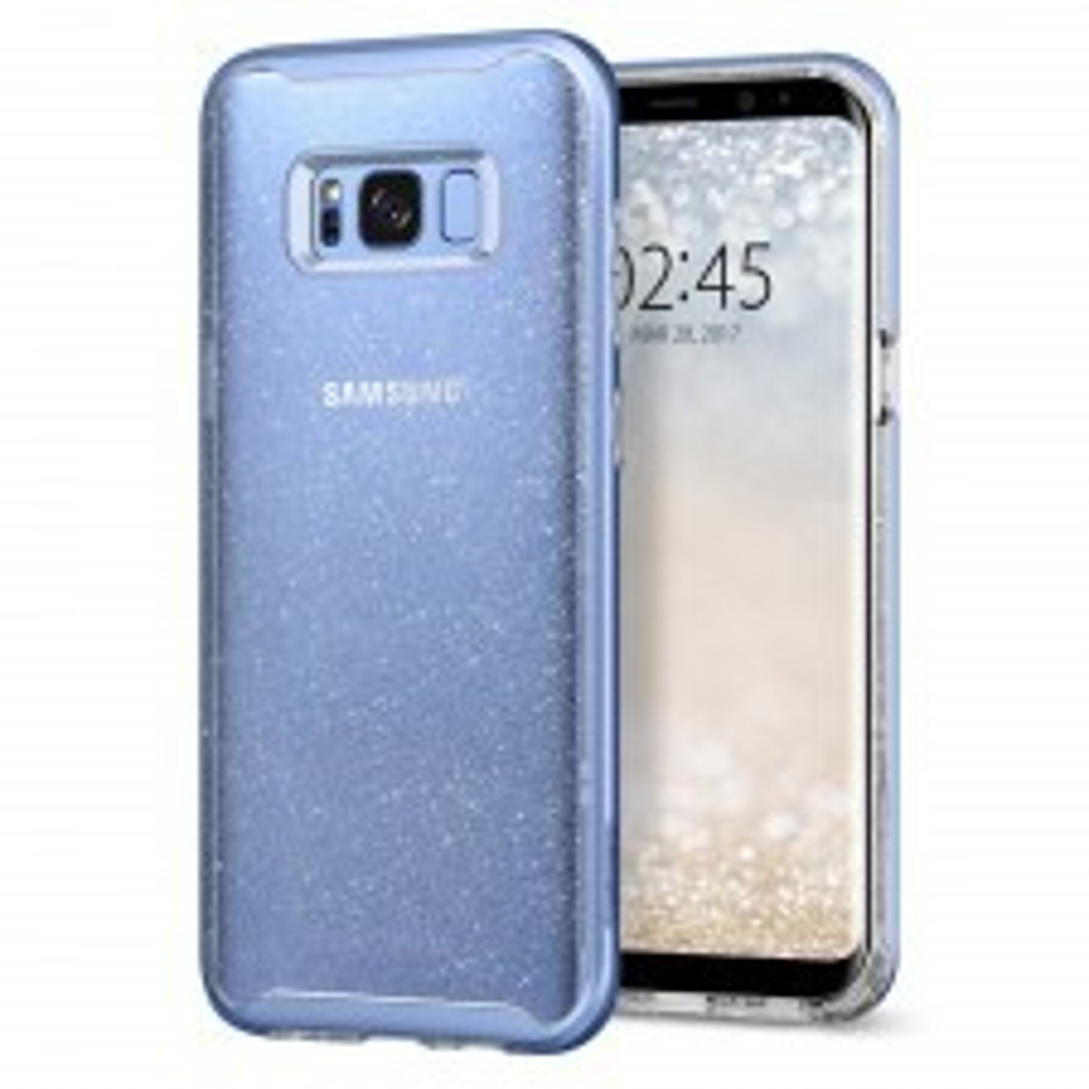 Чехол SPIGEN для Galaxy S8 - Neo Hybrid Crystal Glitter - Голубой кварц - SGP-565CS21607