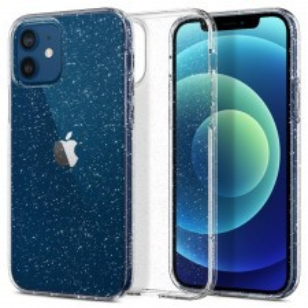 Чехол SPIGEN для iPhone 12 / iPhone 12 Pro - Liquid Crystal Glitter - Прозрачный кварц - ACS01698