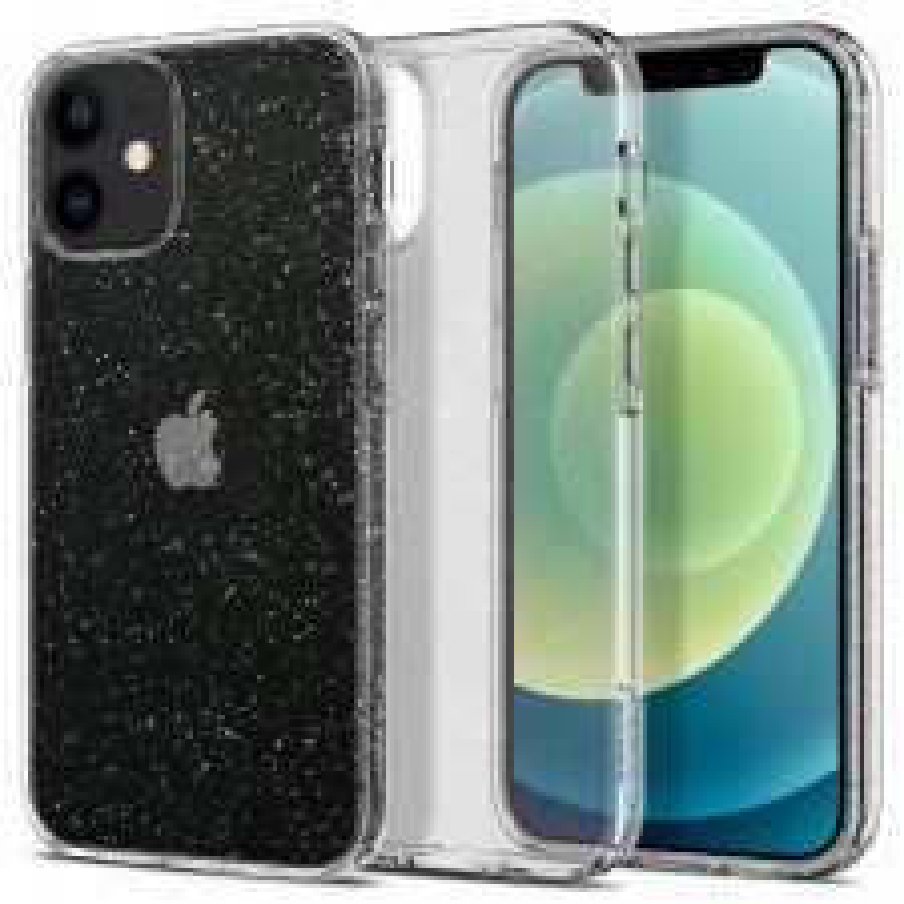Чехол SPIGEN для iPhone 12 Mini - Liquid Crystal Glitter - Прозрачный кварц - ACS01741