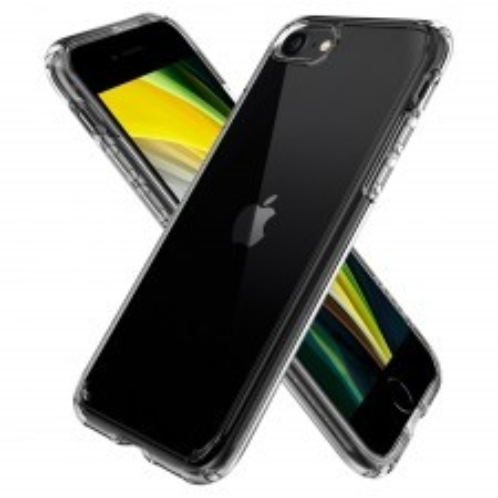 Чехол SPIGEN для iPhone SE (2020) / 7 / 8 - Crystal Hybrid - Кристально-прозрачный - ACS00885