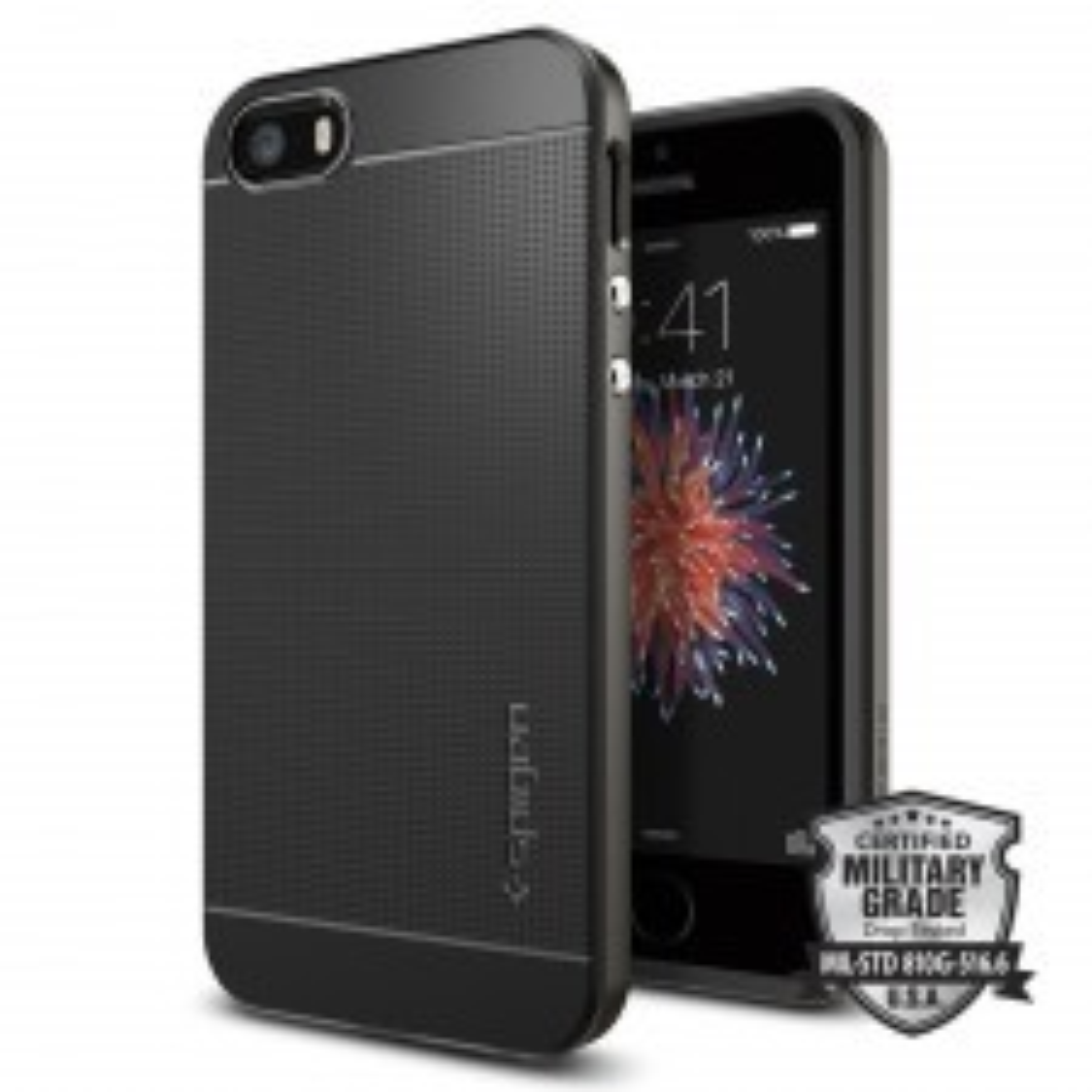 Чехол SPIGEN для iPhone SE / 5s / 5 - Neo Hybrid - Темно-серый - 041CS20184