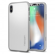 Чехол SPIGEN для iPhone X / XS - Thin Fit 360 - Серебристый - SGP-057CS22645