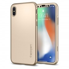 Чехол SPIGEN для iPhone X / XS - Thin Fit 360 - Золотой - SGP-057CS22646