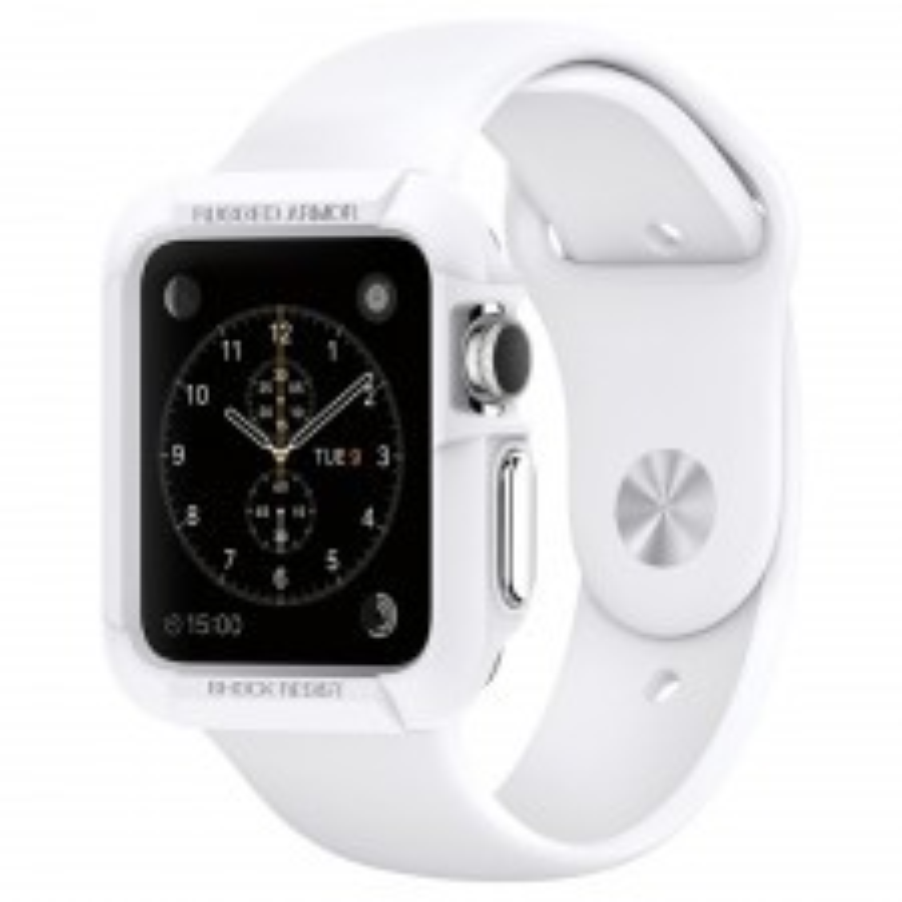 Чехол SPIGEN для Apple Watch (38мм) - Rugged Armor - Белый - SGP11486