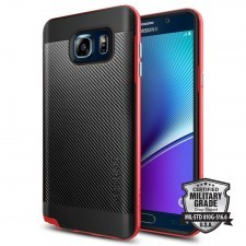 Чехол SPIGEN для Galaxy Note 5 - Neo Hybrid Carbon - Красный - SGP11691