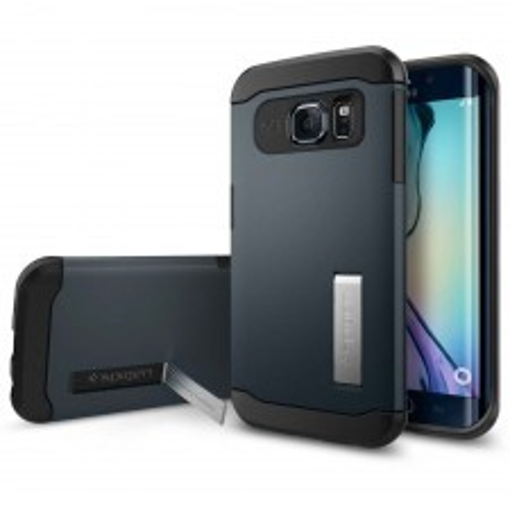 Чехол SPIGEN для Galaxy S6 Edge - Slim Armor - Синевато-серый - SGP11426