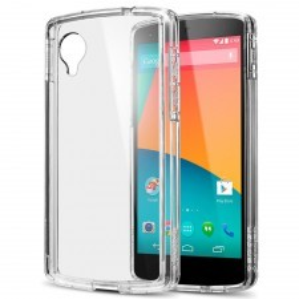Чехол SPIGEN для Google Nexus 5 - Ultra Hybrid - Кристально-прозрачный - SGP10664
