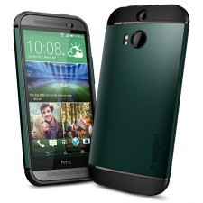 Чехол SPIGEN для HTC One M8 - Slim Armor - Зеленый - SGP10814