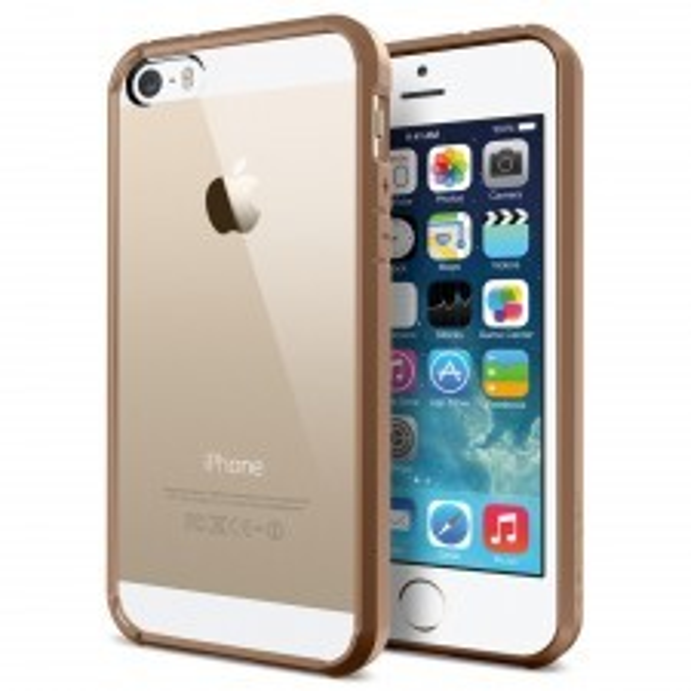 Чехол SPIGEN для iPhone SE / 5s / 5 - Ultra Hybrid - Коричневый - SGP10630