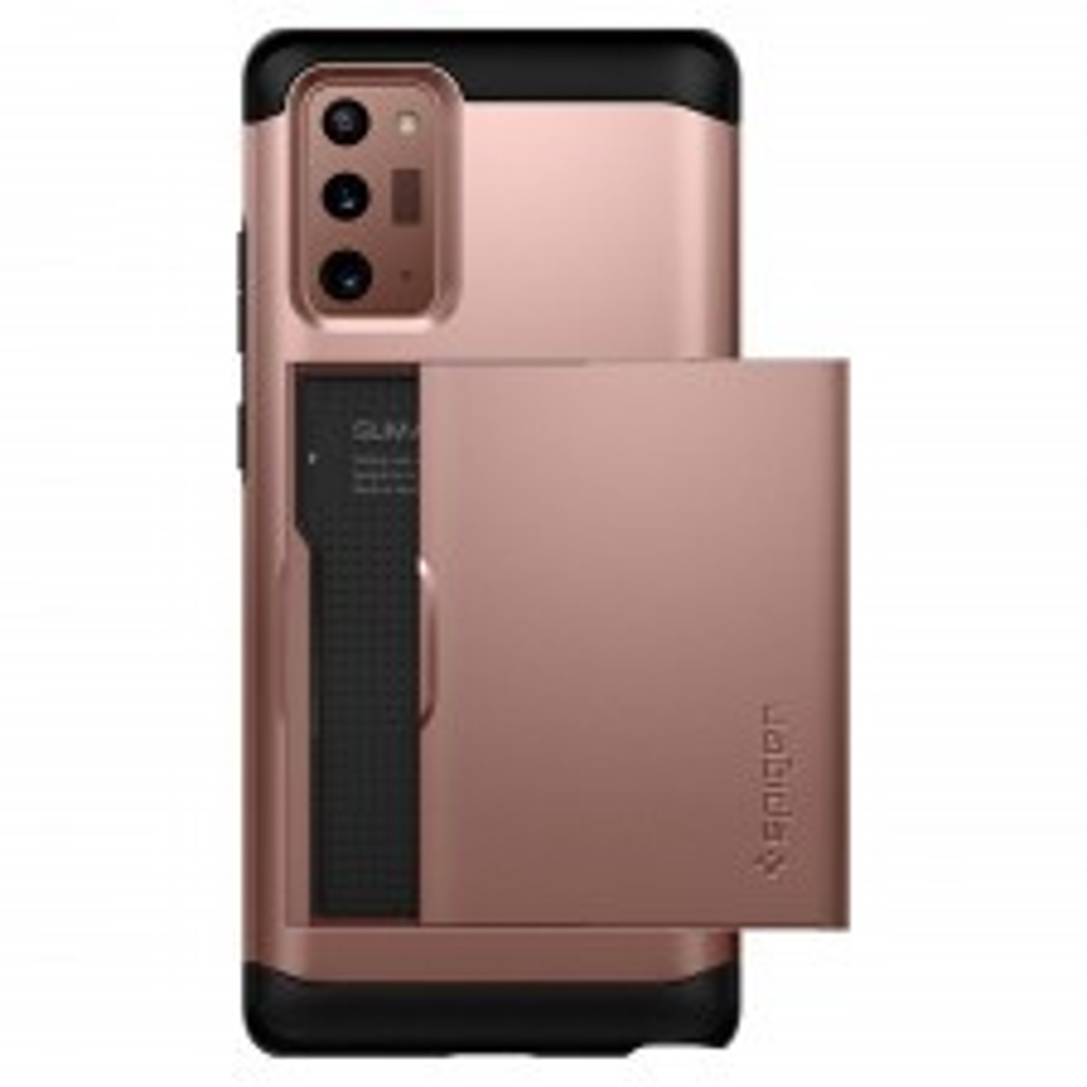 Чехол-визитница SPIGEN для Galaxy Note 20 - Slim Armor CS - Бронзовый - ACS01583