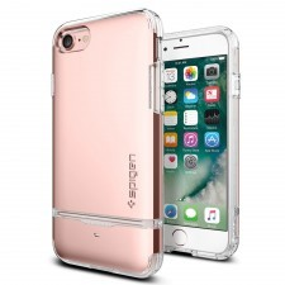 Чехол-визитница SPIGEN для iPhone SE (2020) / 7 / 8 - Flip Armor - Розовое Золото - SGP-042CS20819