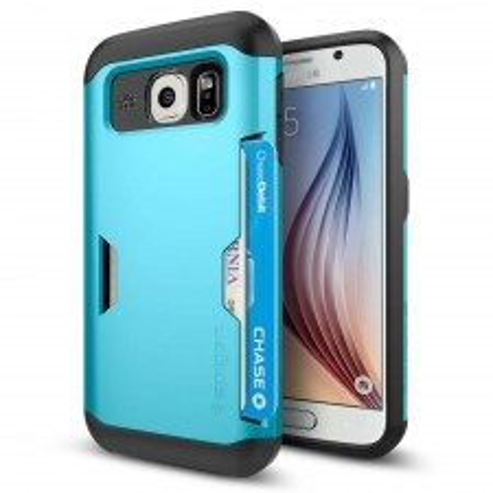 Чехол-визитница SPIGEN для Galaxy S6 - Slim Armor CS - Синий - SGP11334