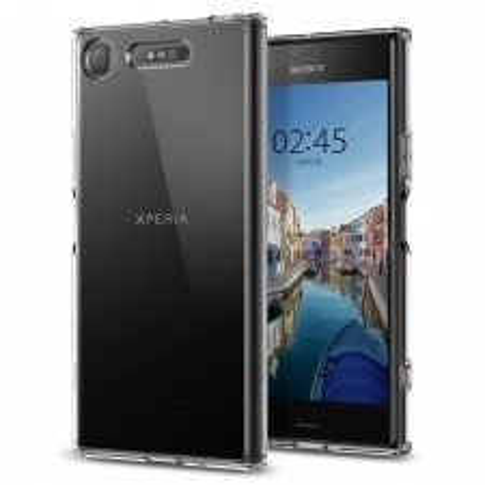 Гибридный чехол SPIGEN для Sony Xperia XZ1 - Ultra Hybrid - Кристально-прозрачный - SGP-G11CS22412
