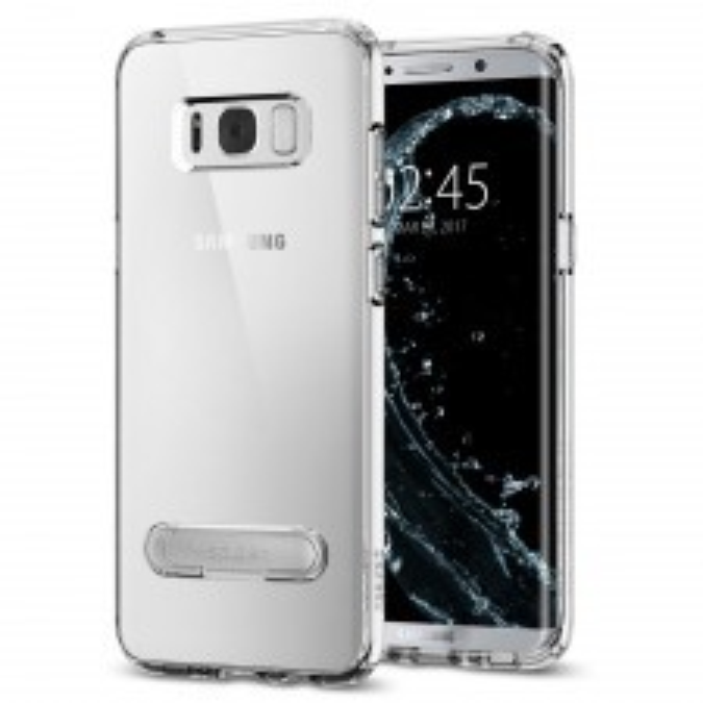 Гибридный чехол с подставкой SPIGEN для Galaxy S8 - Ultra Hybrid S - Кристально-прозрачный - SGP-565CS21634