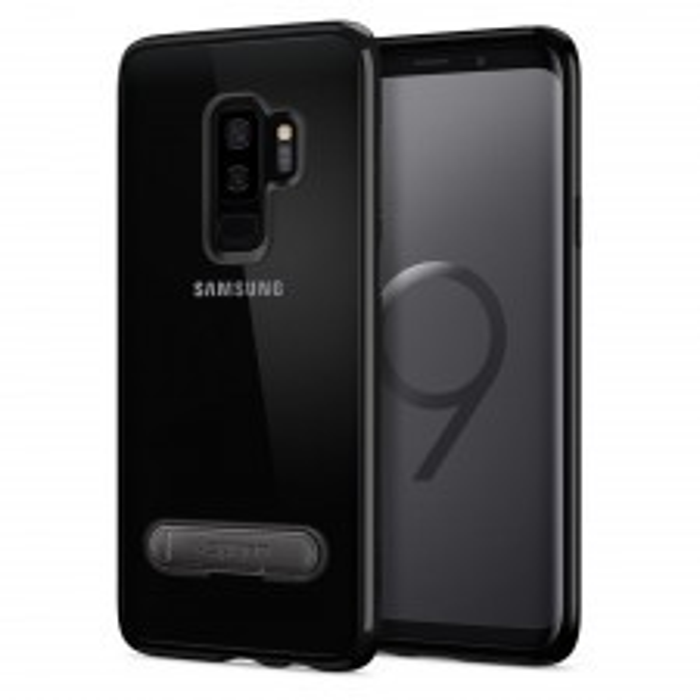 Гибридный чехол с подставкой SPIGEN для Galaxy S9 Plus - Ultra Hybrid S - Черный - SGP-593CS23026
