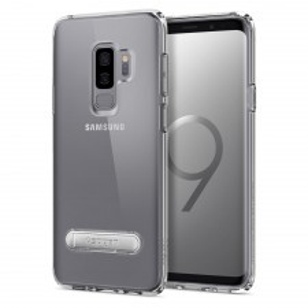 Гибридный чехол с подставкой SPIGEN для Galaxy S9 Plus - Ultra Hybrid S - Кристально-прозрачный - SGP-593CS22928