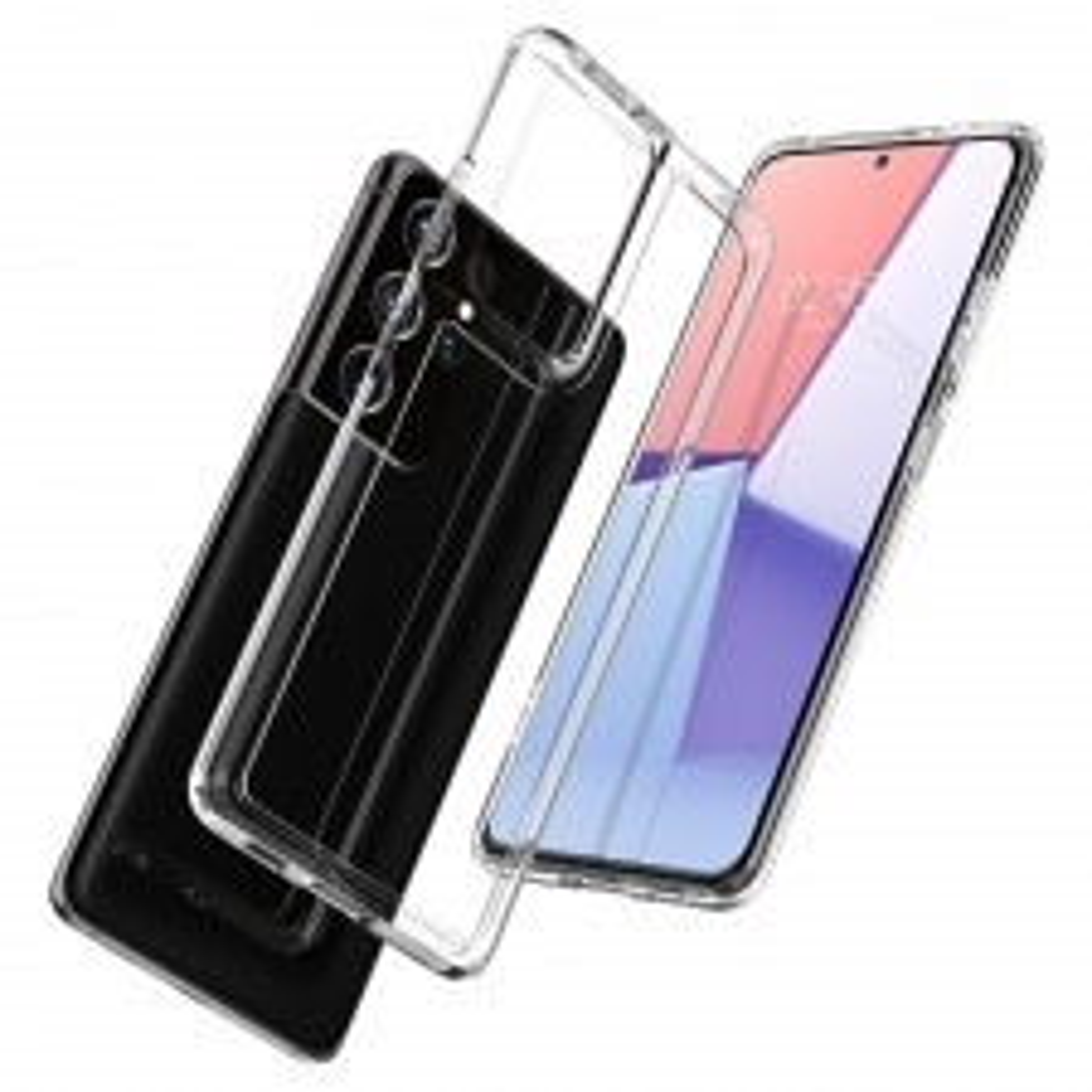 Гибридный чехол SPIGEN для Galaxy S21 Ultra - Ultra Hybrid - Кристально прозрачный - ACS02351