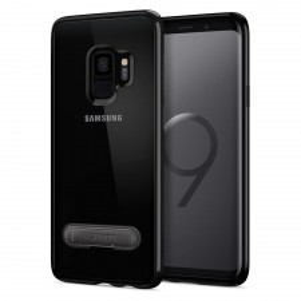 Гибридный чехол с подставкой SPIGEN для Galaxy S9 - Ultra Hybrid S - Черный - SGP-592CS23025