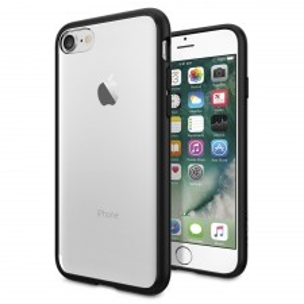 Гибридный чехол SPIGEN для iPhone SE (2020) / 7 / 8 - Ultra Hybrid - Черный - SGP-042CS20446