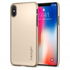 Клип-кейс SPIGEN для iPhone X / XS - Thin Fit - Золотой - SGP-057CS22111